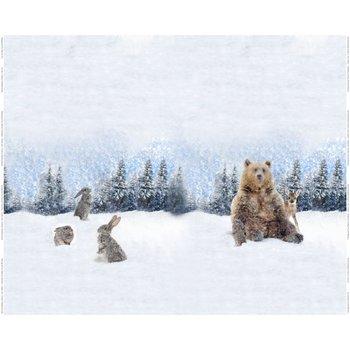 Stenzo digitaal paneel beer in de sneeuw