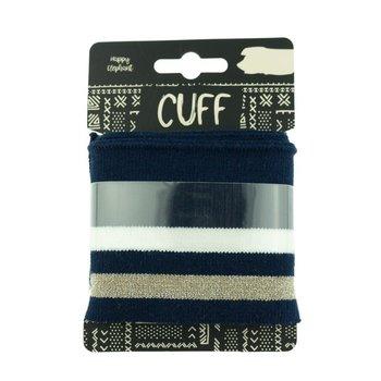 cuff dark blue-offwhite
