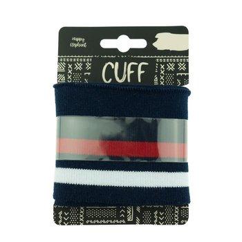 cuff two stripes dark blue-red