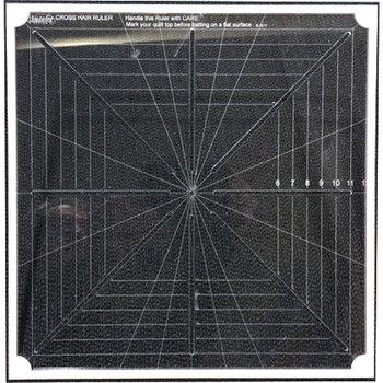 CMD-12M Cross Hair square ruler Full mark