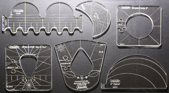 Westalee 6 piece template set