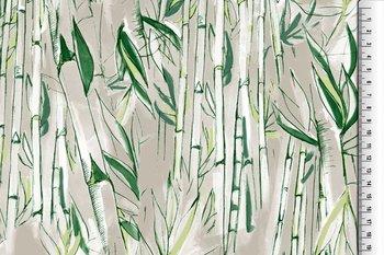tricot met bamboo print