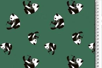 tricot groen met pandaberen