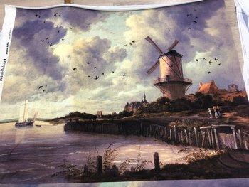 Tricot paneel Dutch mill