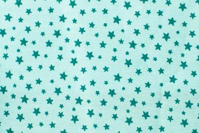 poplin katoen bedrukt kleine ster groen