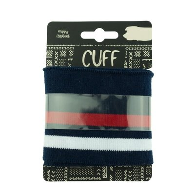 cuff two stripes dark blue-red