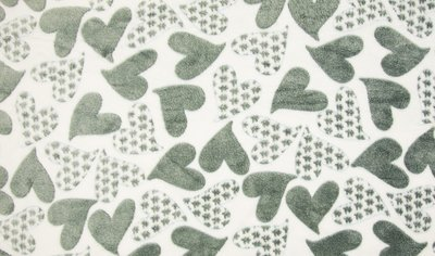 fleece met harten print