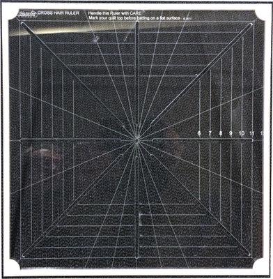 CMD-8M Cross Hair square ruler Full mark