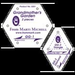 1 inch Grandmother's Garden Set (2p), Marti Michell Templates