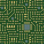 Contempo Matthew's Mini Monsters Circuit Board Green