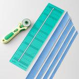 Bias tape cutting ruler