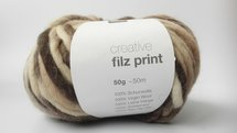 Creative Filz print bruin/beige