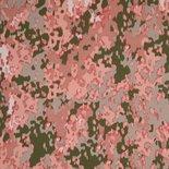 camouflage print roze en groen