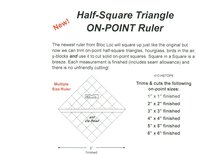 Half square triangle on point ruler