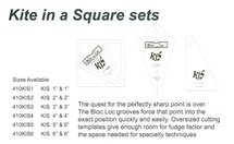 Kite in a square sets