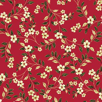 Blanca flor red, rood, print wit groen goud