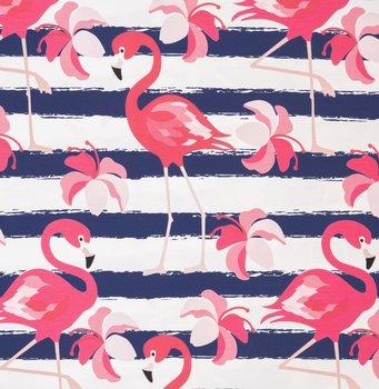 Flamingo met blauwe strepen groot