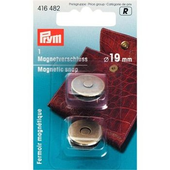 Magneetsluiting 19 mm oudmessing