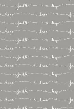 Hydrofiel katoen faith love Ilja Fabrics
