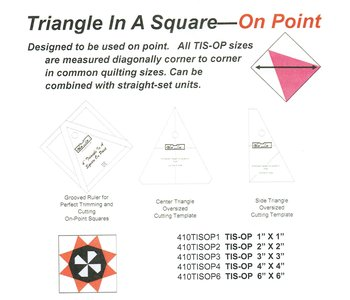 Triangle in a square on point