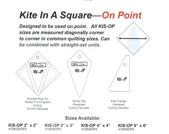 Kite in a square on point