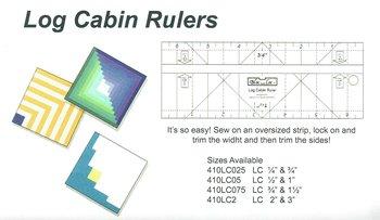 Log cabin rulers