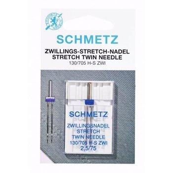 Schmetz naaimachine naalden stretch tweeling 2.5 mm